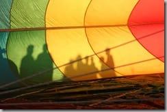 Hot Air Balloon Shadows Colorado Springs 2008