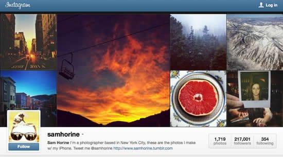 Instagram For Photographers Sam Horine