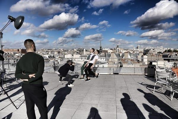 backstage photo - Kris Van Assche's spring campaign 2014