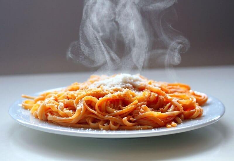 steaming Italian spaghetti
